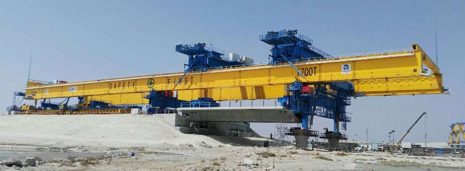 Doha link bridge deck erection gantry launching gantry launching girder